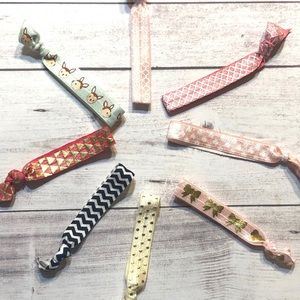 Hair ties set of 8 stocking stuffer headband hair